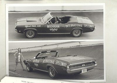 1969 Mercury Cougar Michigan Pace Car ORIGINAL Factory Photo Press Kit ww6561