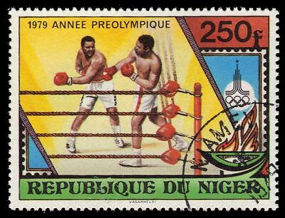"""NIGER 487 (Mi676) - Moscow Olympics """"Boxing"""" (pa39508)"""