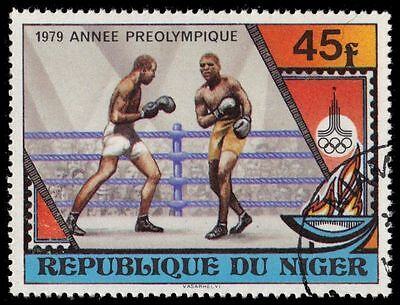 """NIGER 484 (Mi673) - Moscow Olympics """"Boxing"""" (pa39510)"""