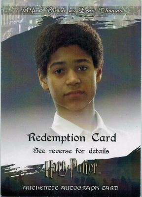 Harry Potter: Redemption (Autograph) Card of Alfred Enoch as Dean Thomas