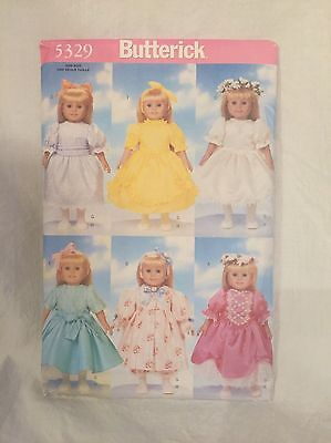 """18"""" Doll Clothes Sewing Pattern Butterick 5329 Uncut Pattern"""