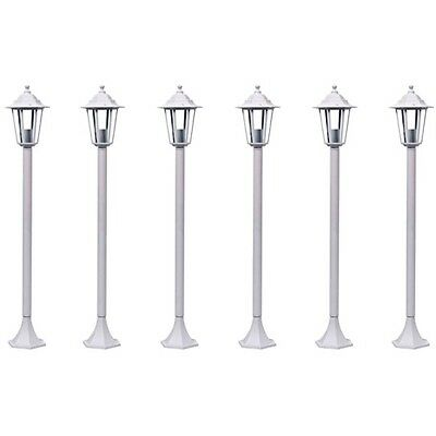 #S Garden Light Lamp Post Lantern White 110 cm 6 pcs