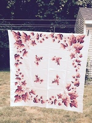 Vintage Square Floral Table Cloth