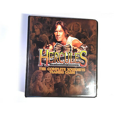 Hercules Complete Journeys Trading Collector Cards Binder only Rittenhouse