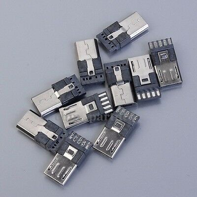 10pcs Micro USB Male Pin 5P Welded-Type For Connector Accessories Industrial