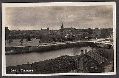 Postcard Netherlands view of Ommen Panorama RP
