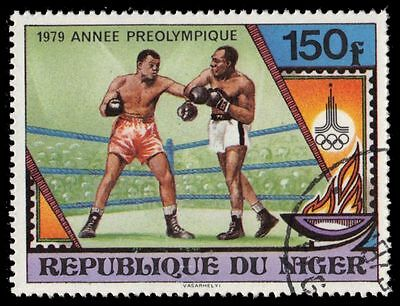 """NIGER 486 (Mi675) - Moscow Olympics """"Boxing"""" (pa39507)"""