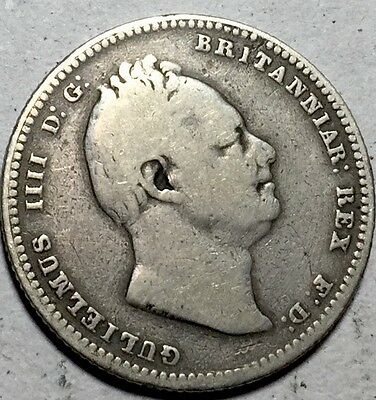 GB . King William IV . 1834 . Shilling . Nice Coin.