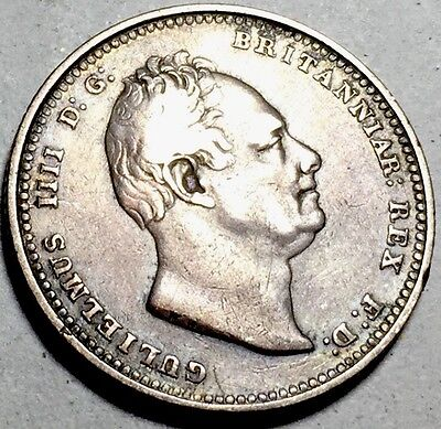 GB . King William IV . 1837 . Shilling . Nice Coin.