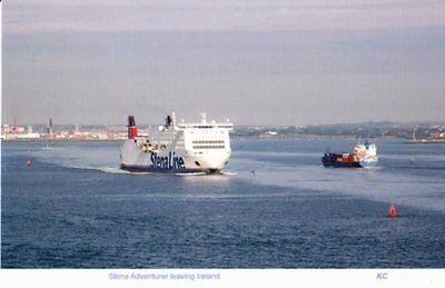 Stena Adventurer ferry  leaving Ireland
