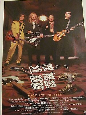 Cheap Trick, Busted, Full Page Vintage Promotional Ad