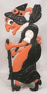 Vintage Halloween Walking Witch Decoration Made in Germany 1930s