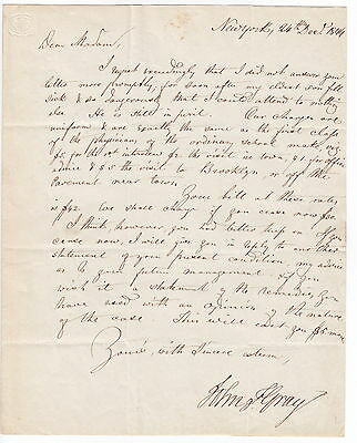 Dr John Franklin Gray 1844 New York Letter - Homeopathy Pioneer - Content