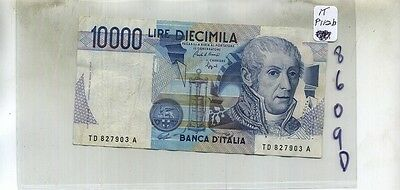 1984  Italy 10,000 Lire Currency Note Fine 8609D