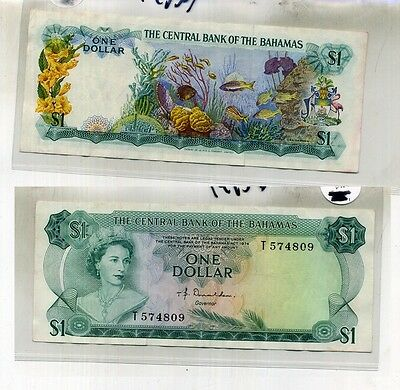 1974 $1 Bahamas Currency Note Au 1495D