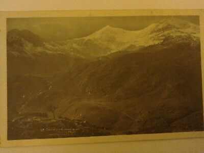 A Postcard Of Snowdon .Posted Barmouth 1925.