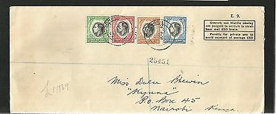F187) Southwest Africa 1937 Cover To Kenya