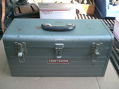 """Vintage CRAFTSMAN tool Box Chest With Tray 18"""" X 8"""" X 9"""""""