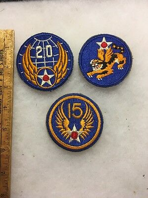 Lot Of 3 WW2 US Army Air Corp Patches Original