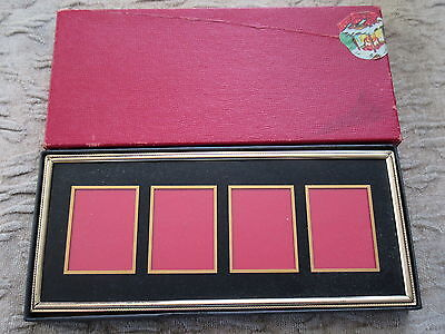Old Vintage Art Deco Metal and Glass Picture Frame w/ Box
