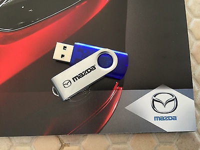 MAZDA OFFICIAL FULL LINE BROCHURE & LOS ANGELES PRESS 4Gb FLASH DRIVE 2013-2014