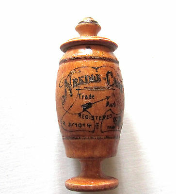 Beautiful Antique Sewing Needle Case Treen Ware Advertising German Beauty Stands