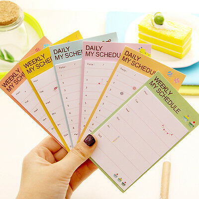 2017 Hot Useful Daily Planner Post It Bookmark Marker Memo Sticky Notes Notepad