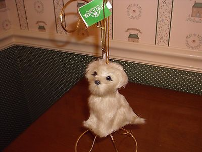 "Kurt Adler 3.5""-4 - Plush Dog Ornament-D- As Shown-New"