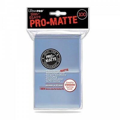 Ultra Pro Pro Matte Clear Standard Deck Protectors (100 Sleeves) Brand New