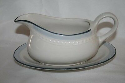 HAVILAND Crowning Fashion Mountain Sky Gravy Boat with Underplate   #719