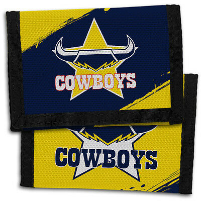 98703 North Queensland Cowboys Nrl Team Logo Kids Nylon Wallet Gift Idea