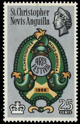 """ST. KITTS-NEVIS 176 (SG160) - National Arts Festival """"Dolphins"""" (pa61085)"""