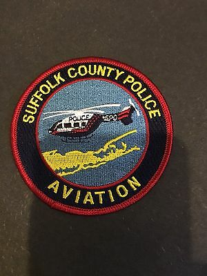 Suffolk County Police New York Aviation  Shoulder  Patch