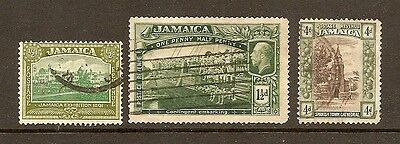 Jamaica - 3 used from 1919-21 set
