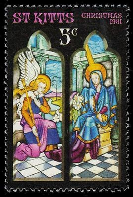 """ST. KITTS 86 (SG88) - Stained-glass Windows """"Annunciation"""" (pf25288)"""