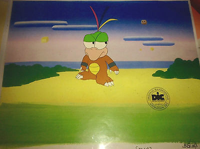 Super Mario Brothers Original Animation Production Art Cel DIC ENT Seal