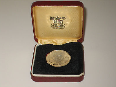 1973 FFE Commemorative Proof 50 Pence Piece in Red Royal Mint Case of Issue