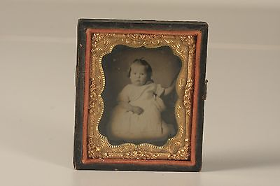 Ambrotype of a Beautiful Little Girl Very Sharp Image MUST SEE