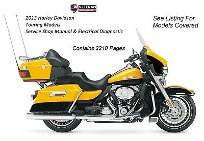2013 harley davidson touring models service electrical diagnostic rh picclick com 2013 harley davidson flhtk owners manual 110th Anniversary Ultra Limited Review