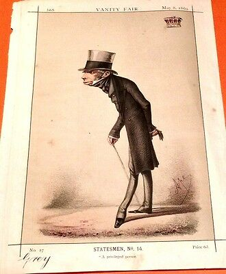 """Vanity Fair Original 1869""""by Ape """"A Privilege Person"""".and his History..attached"""