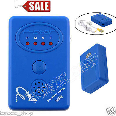 Adult Baby Bedwetting Enuresis Urine Bed Wetting Alarm +Sensor With Clamp Blue