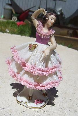 Beautiful Vintage  Dresden Germany Ballerina Lace Figurine 'camilla'