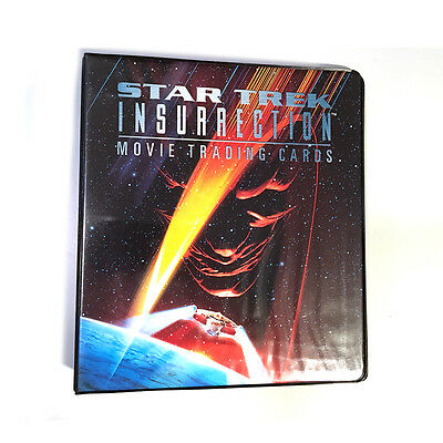 Star Trek Insurrection Movie Trading Collector Cards Binder ONLY Skybox 1998