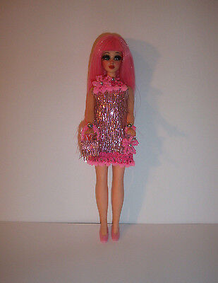 Custom Topper Dawn Doll ~Go-Go Dancing Night Out in Pink Tinsel~