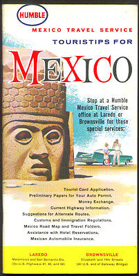 Humble Gasoline Touristips for Mexico 1963 booklet