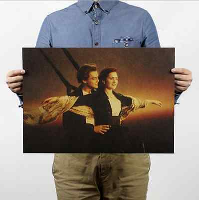 Titanic Movie Posters Vintage Wall Chart Home Bar Decor Kraft Paper Retro Poster
