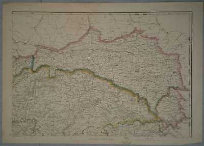 1862 Dower map of Galicia & Bukovina, Poland / Ukraine