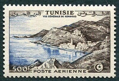 TUNISIA 1956 500f SG425 CV £9.25 mint MH FG AIRMAIL View of Korbous #W12