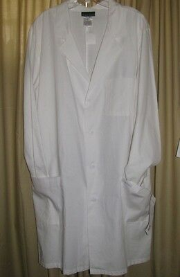 Unisex Cherokee Lab Coat Size L White Nurse Student Professional NWT Large NEW