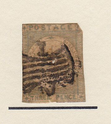 Australia NSW 1850 3d Sydney View with Victoria Butterfly cancel